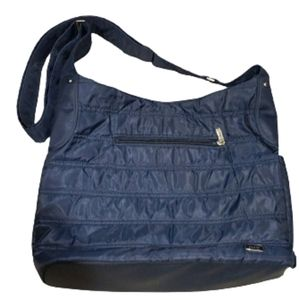 Lug large blue tote,/shoulder/diaper bag
